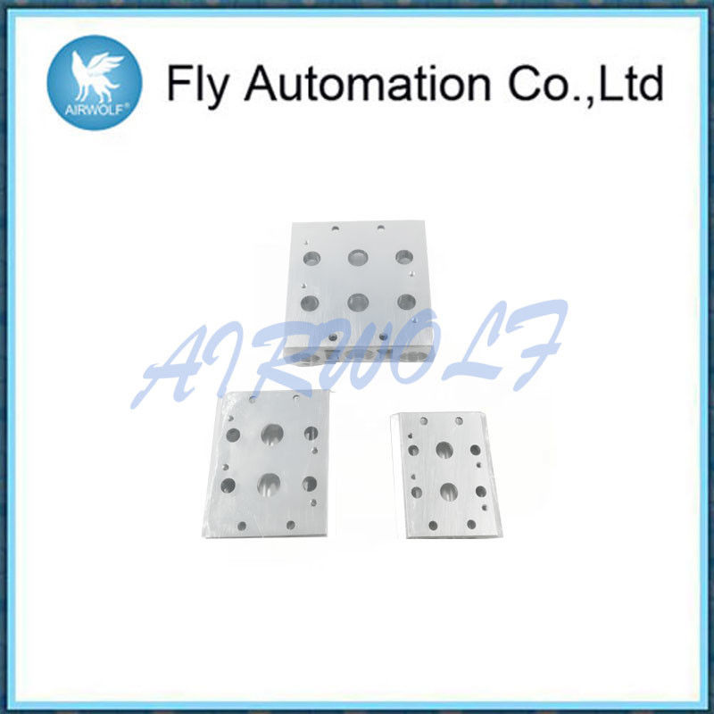 Two / Five Holes Solenoid Valve Accessories Bus Board -20 - 70 ℃ In Silver