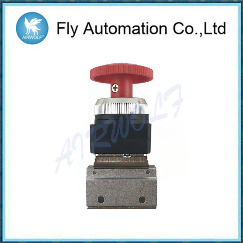 "Aluminium Alloy Valve MSV86321EB MSV86321PB 1/8""  Red And Green Palm Button Stop Cock Mechanical Valve"