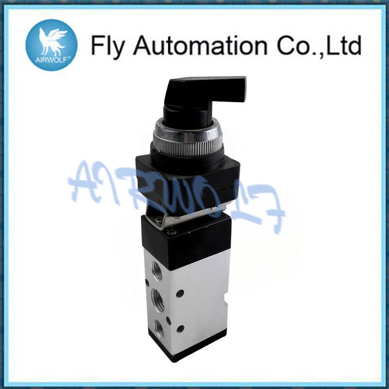 Long Button Pneumatic Toggle Switch 5/2 Way Direction Control Mechanical Valve