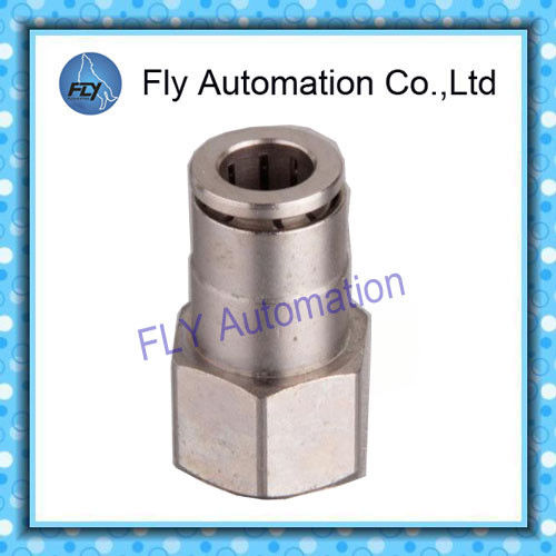 Pneumatic Tube Fittings Straight thread nickel-plated brass push-in fittings PCF series